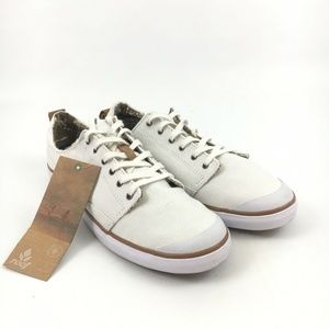 New Reef Walled Low White Sneakers Womens 9